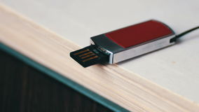 USB stick and new book pages macro stock video