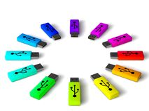 Usb sticks Royalty Free Stock Photo