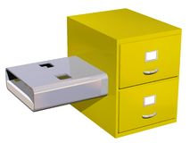 USB Storage Concept. USB filing cabinet concept isolated on white Royalty Free Stock Image
