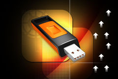USB TRANSFERT DATA CONCEPT - 3D Royalty Free Stock Photography