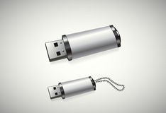Usb. Two usb disks in a white background Royalty Free Stock Photos