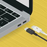 A USB type C witch modern laptop icometric vector design royalty free stock photography