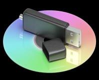 Usb- und Dvd-Gedächtnis-Shows Portable-Speicher Lizenzfreie Stockbilder