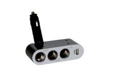 USB und Feuerzeugsockel für das Auto Stockbilder