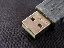 USB Universal Serial Bus close up on black backdrop texture stock photos