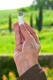 Usb-USB-Stick in der Hand Stockbilder
