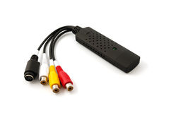 USB video audio capture adapter VHS to DVD hdd tv Stock Photography