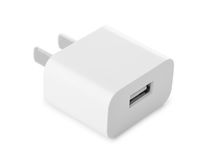 Usb wall charger plug Stock Image