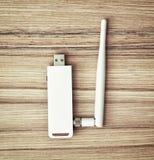 Usb-wifi Modul für PC mit Antenne Lizenzfreie Stockfotografie