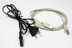 Usb wire ceble Royalty Free Stock Images