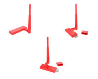 USB wireless adapter(red) Stock Photography