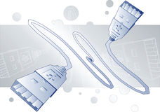 USB Wires Royalty Free Stock Photo