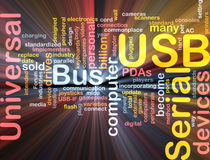 USB word cloud glowing Stock Images