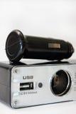 USB y encendedor de auto para el coche Fotografía de archivo libre de regalías