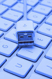 Usb1. USB ports for to connect to the computer Stock Photography