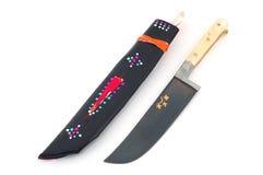Usbek-Messer mit Hülle Lizenzfreie Stockbilder