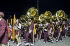 USC band walking around Royalty Free Stock Photo