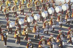 USC Marching Band in Rose Bowl Parade, Pasadena, California Stock Image