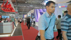 USC and Rosoboronexport on 6th international maritime defense show stock video