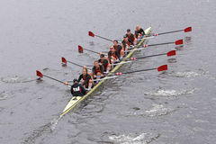 USC Women's Crew won the race in the Head of Charles Regatta Women's Master Eights Royalty Free Stock Photos
