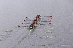 USC Women's Crew won the race in the Head of Charles Regatta Women's Master Eights Stock Image