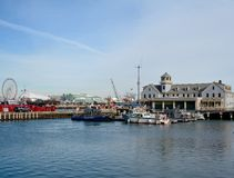 USCG设施和海军码头 免版税库存照片