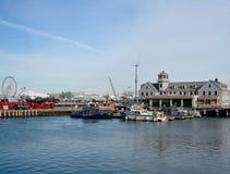 USCG facility and Navy Pier Royalty Free Stock Photo