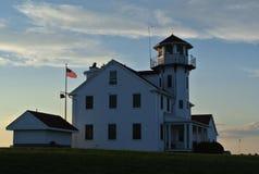USCG-stationspunkt Judith, RI Arkivbilder