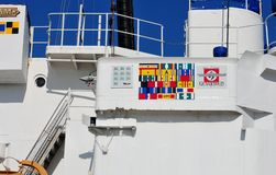 USCGC Ingrahm campaign ribbons Stock Photos