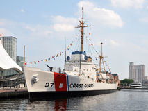 USCGC Taney (WHEC-37). Docked at the Inner Harbor in Baltimore, USA Royalty Free Stock Photo
