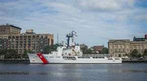 USCGC Vigilant. The USCGC Vigilant makes a temporary stop in Wilmington, NC, on September 17, 2017 Royalty Free Stock Photography