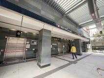 Uscita C1 - l'estensione di HKU della linea dell'isola al distretto occidentale, Hong Kong Fotografia Stock