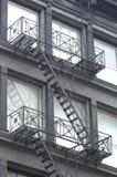 Uscita d'emergenza su costruzione Immagine Stock Libera da Diritti