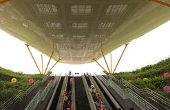 Uscita del Central Park del sistema del sottopassaggio di Kaohsiung Immagine Stock