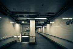 Uscita dell'entrata della stazione della metropolitana, Brooklyn, New York Fotografia Stock Libera da Diritti