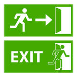 Uscita dell'evacuazione del segno illustrazione vettoriale