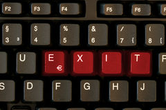 USCITA della tastiera Immagine Stock Libera da Diritti