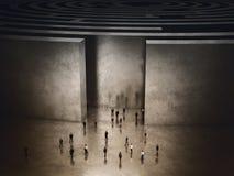 Uscita di labirinto complicato rappresentazione 3d Fotografia Stock Libera da Diritti