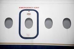 Uscita di sicurezza dell'aeroplano Immagine Stock Libera da Diritti