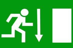 Uscita di sicurezza - uscita d'emergenza Fotografie Stock Libere da Diritti