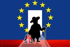 Uscita Gran Bretagna dall'alleanza europea illustrazione di stock