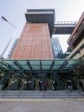 Uscita A1 - l'estensione della stazione di MTR HKU della linea dell'isola al distretto occidentale, Hong Kong Immagini Stock Libere da Diritti