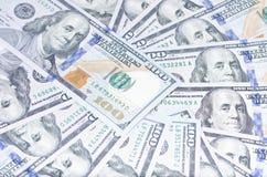 100 USD背景  免版税库存图片