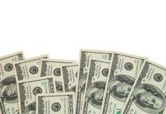 USD бумажных денег; много банкнот доллара Стоковые Изображения