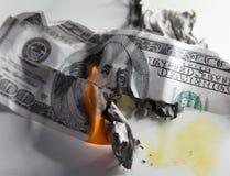 100 USD ожога Стоковое фото RF