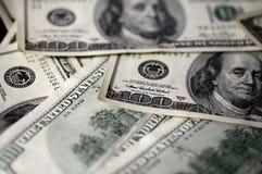 100 USD предпосылки долларовых банкнот Стоковая Фотография RF