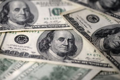 100 USD предпосылки долларовых банкнот Стоковые Изображения RF