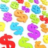USD amerykańskiego dolarowego waluty znaka składu Obrazy Royalty Free