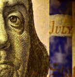100USD avers Benjamin Franklin Royaltyfria Bilder