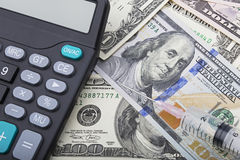 Free USD Bank Notes And Calculator Showing Cost Of Health Care Royalty Free Stock Photography - 68400857